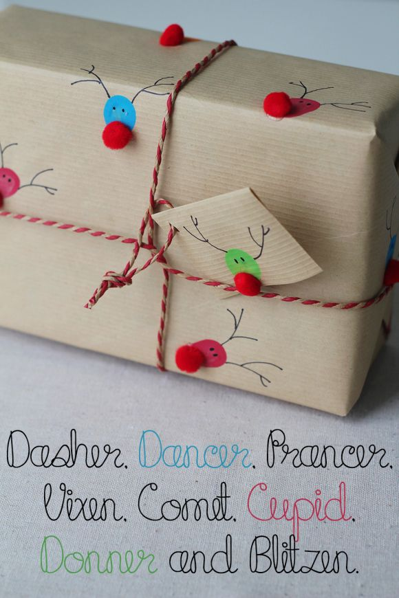 Reindeer Prints wrapping paper