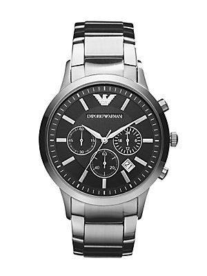 Emporio Armani Classic Chronograph WatchEmporioarmani, Armani Watches, Classic Chronograph, Classic Watches, Emporio Armani, Chronograph Watches, Armani Men, Men Watches, Stainless Steel