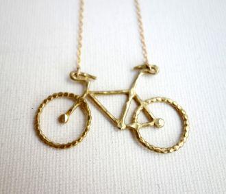 Brass Bike Necklace