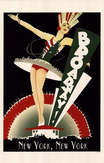 Broadway ~ Fine-Art Print - Vintage Advertisements Art Prints and Posters - Vintage Advertisements Pictures