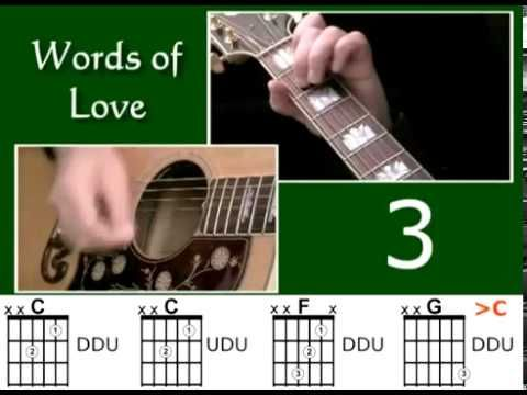 How to play Words Of Love by Buddy Holly - Best Beginner Guitar Lessons