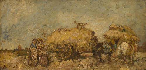 classic-art:  The Hayfield, Adolphe Monticelli.