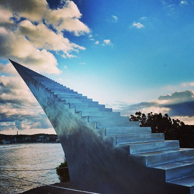 """""""Come with me up into the clouds"""" Sculpture by the sea #Sydney #Australia on now until 10th November. (photo by paulyvella instagram)"""