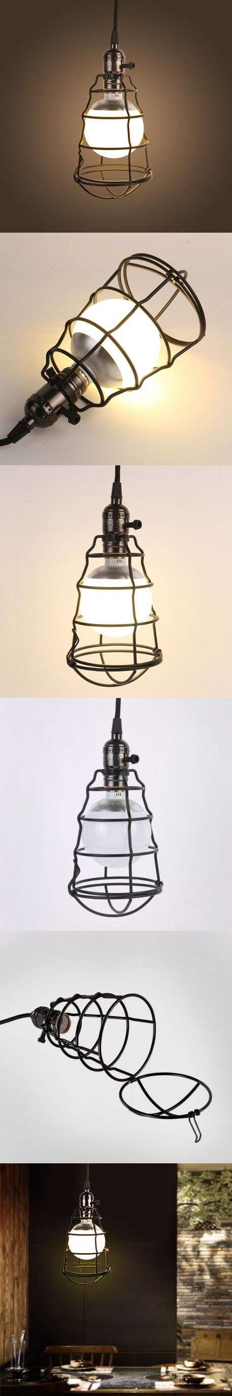 Classical Retro Pendant Lights Industrial Home Lighting Lamp E27 Birdcage LED Pendant Light Hanging Lamps For Home Decoration $42.97
