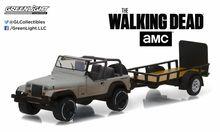 Greenlight 1:64 Hitch & Tow 8 Walking Dead Michonne's Jeep Wranger YJ Trailer