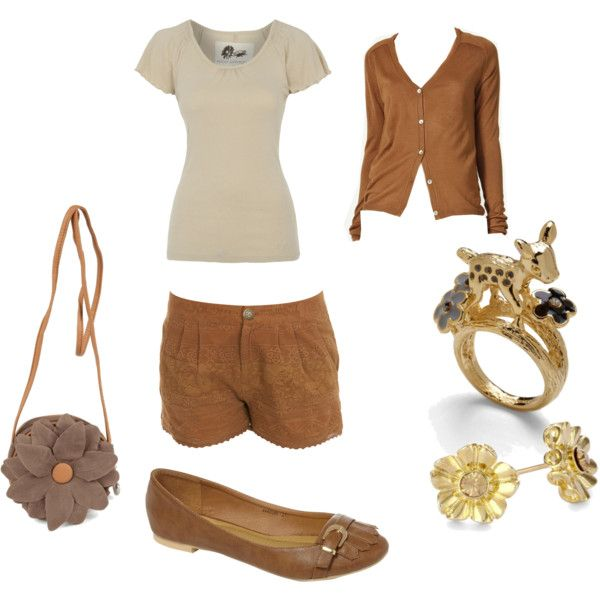 simple little earthy outfit: Clothing 3, Bambi Style, Teen Outfits, Disney Clothing, Disney Outfits Fashion, Disneybound, Inspiration Fashion, Bound Outfits, Bambi Outfits