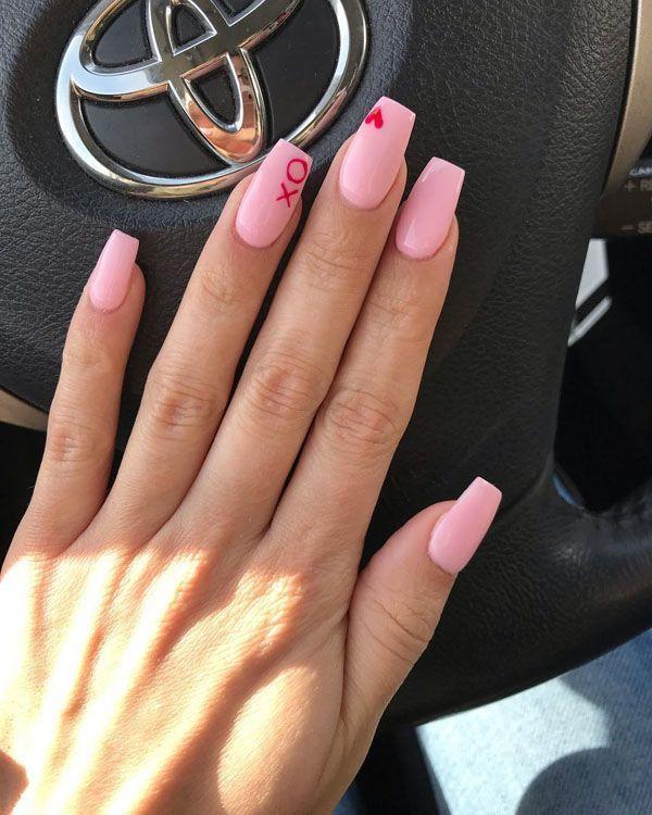 80 Gorgeous Valentine's Nails Designs#designs #gorgeous #nails #valentines