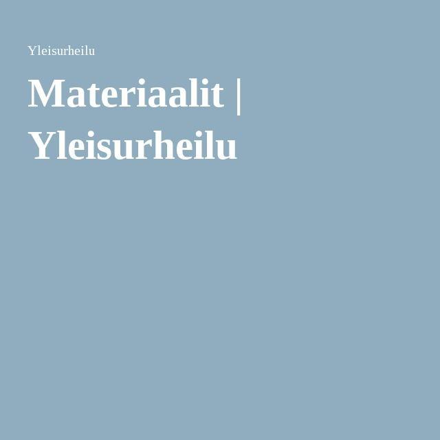 Materiaalit | Yleisurheilu