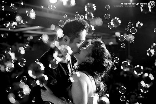 I want bubbles when we kiss and walk back down the aisle! Then keep it going to entertain the kids.