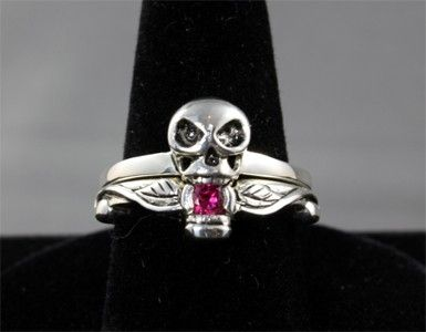 skull wedding ring set by nicole ibey - Skull Wedding Rings
