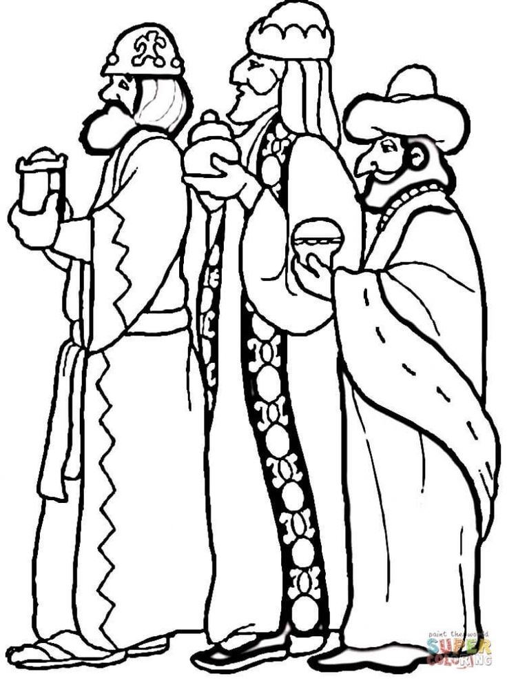 3 Wise Men Coloring Page From Religious Christmas Category Select 24413 Printable Crafts Of Cartoons Nature Animals Bible And Many More