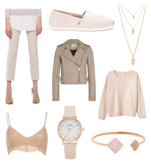 """☀️"" by fridasaaa on Polyvore featuring Akris Punto, TOMS, IRO, Monki, River Island, Michael Kors and Forever 21"