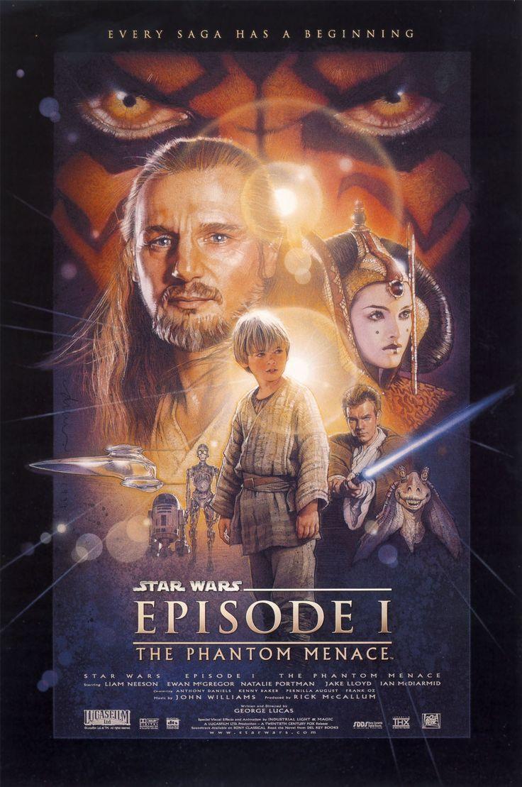 Star wars 1: Movie Posters, War Episode, Menace 1999, Stars War, Star Wars, Phantom Menace, Phantommenac, Favorite Movie, Starwars
