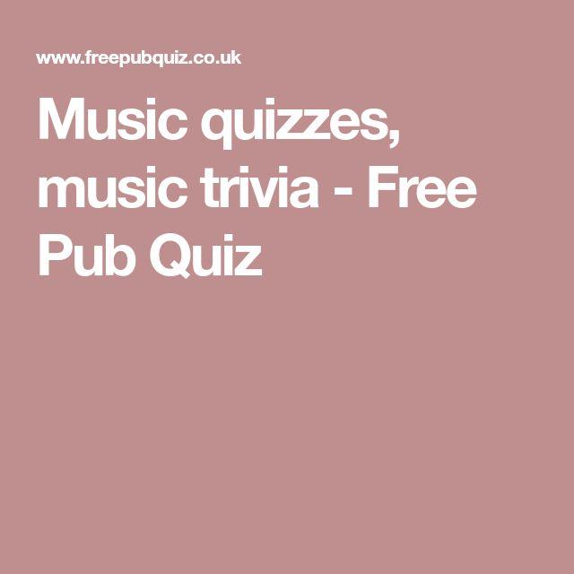 Music quizzes, music trivia - Free Pub Quiz
