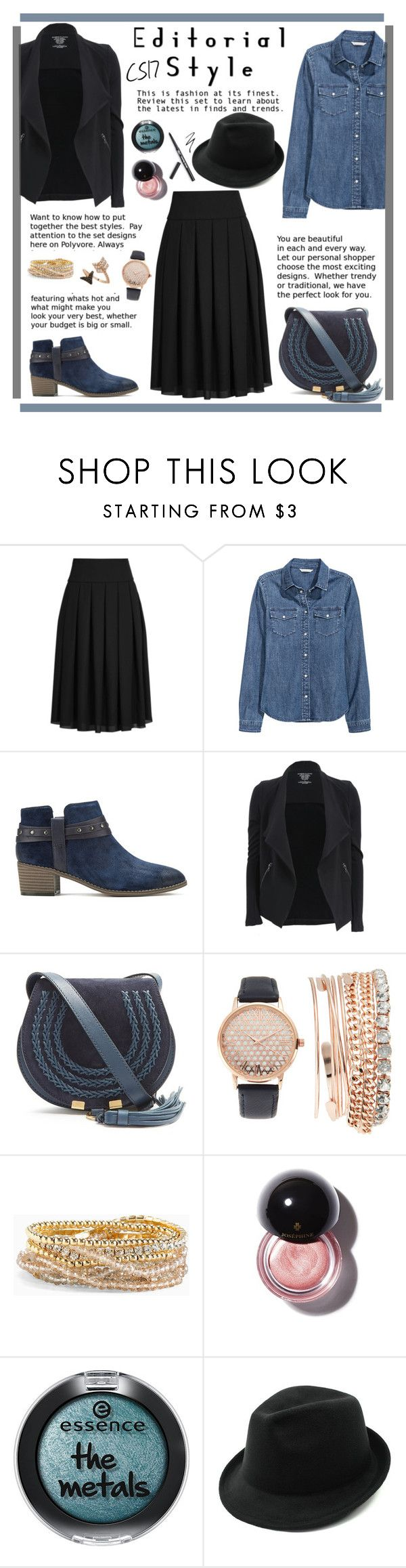 """""""Inspirational Look (January 18th)"""" by shiningstars17 ❤ liked on Polyvore featuring Reiss, H&M, Clarks, Majestic Filatures, Chloé, Jessica Carlyle, Torrid and Bee Goddess"""