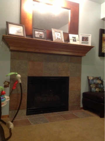 Fireplace Update with heat resistant spray paint