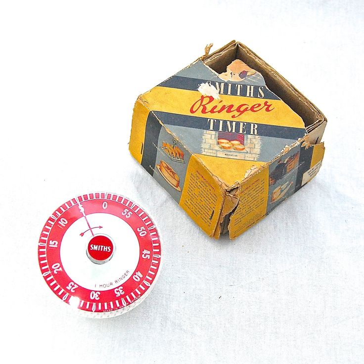 British MidCentury Vintage SMITHS Ringer Kitchen Timer in Original Box by LeGrenierLondon on Etsy