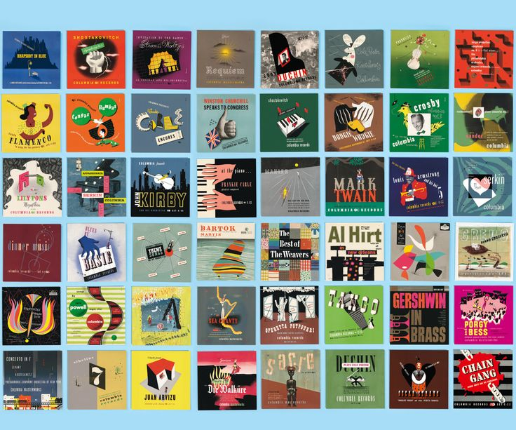 The complete MOOcard collection of Alex Steinweiss album covers.