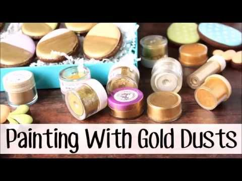 LilaLoa: How to Choose (and Use) Gold Luster Dust -- Easter Cookie Box #2