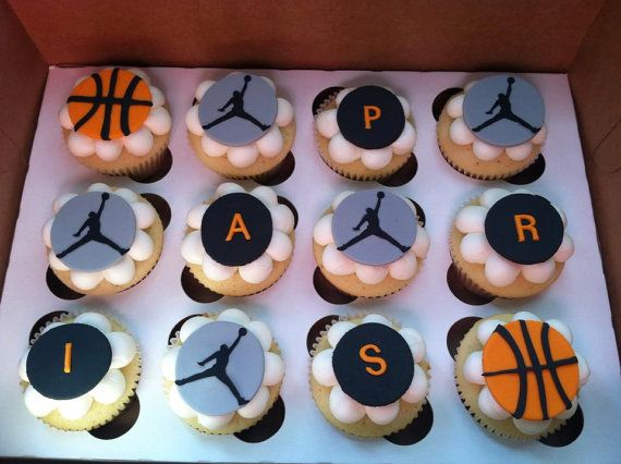 Fondant Basketball Cupcake Toppers By Cakesinfinity On