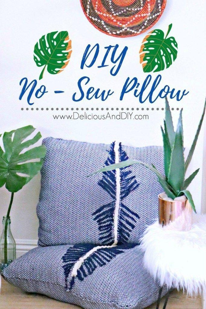 How To Diy No Sew Throw Pillows Throw Pillows Diy Throw Pillows