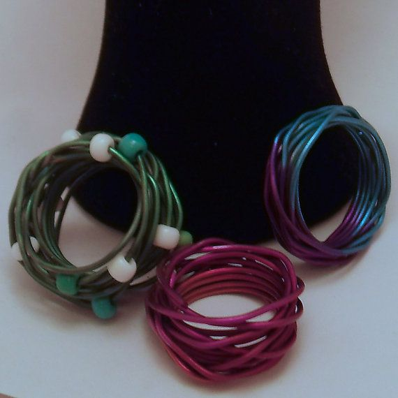 Two Tone Colourful Anodised Aluminium Ring by ALittleTrinket, £5.00