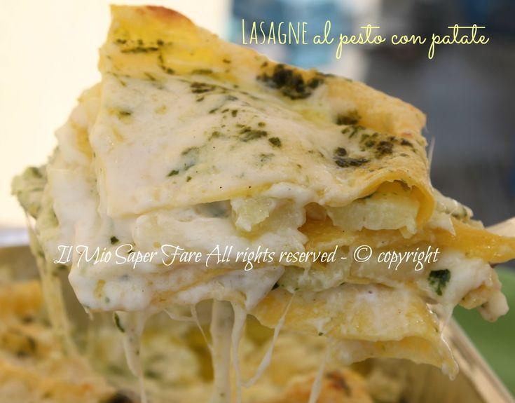 Lasagne al pesto e patate (e fagiolini)
