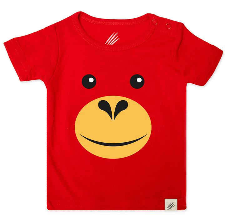 Orangutan monkey t-shirt for kids and infants. Available now at www.reallywildchild.com. Really Wild Child. Made for little animals.