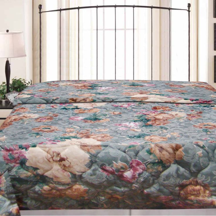 New Reversible Fashions Crystal Hotel Jacquard Vintage Bedspread Quilt Full Size #Textiles