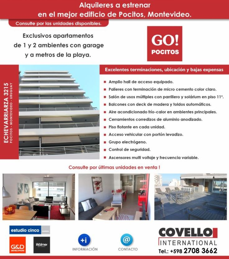 #GOPOCITOS, #GO2POCITOS, #LOVEMONTEVIDEO, #FEELMONTEVIDEO, #COVELLOINTERNATIONAL, #REALESTATE, #RAMBLAMONTEVIDEO Flyer lanzado a la base de datos.
