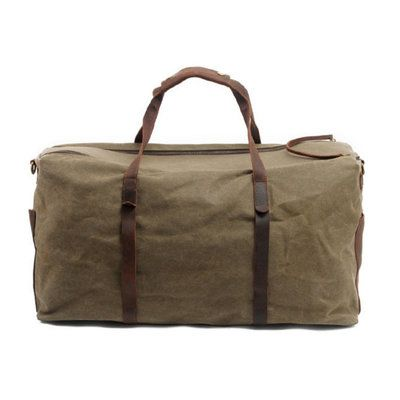 Waxed Canvas Duffle Bag Weekend Duffel Men