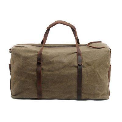 Waxed Canvas Duffle Bag / Weekend Bag / Duffel Bag Men / Men Duffle Bag / Weekender Bag / Leather Duffle Bag / Mens Duffel Bag / Gym Bag(S37)
