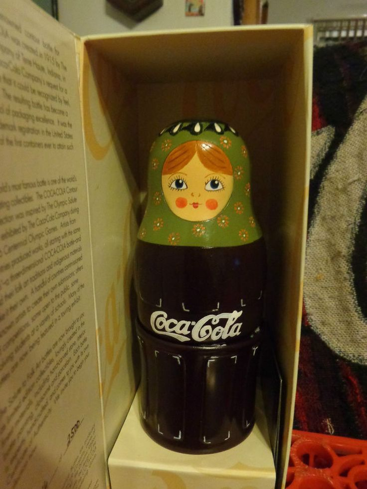 """""""Japan""""  """"Rare""""  Vintage Coca Cola  Russian Nesting Dolls Contour Collection Set #CocaCola"""