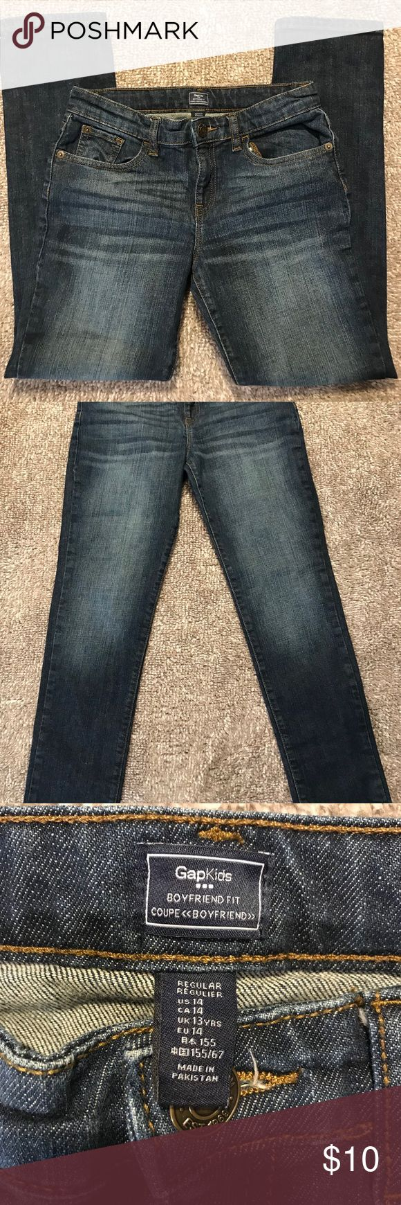 GAP KIDS BOYFRIEND FIT JEANS Dark wash. Size US 14. Boyfriend fit. Worn a few times. Great condition. GAP Bottoms Jeans