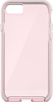 Tech21 Evo Check Case for iPhone 7, Pink/White
