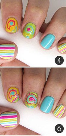 Tutorial: Pretty Paisley Nail Art - click the image for the tutorial