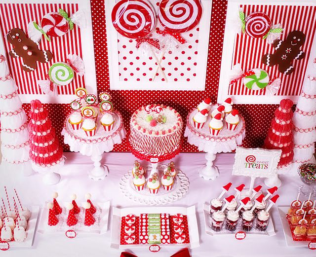 christmas candy table: Christmas Parties, Holiday, Dessert Tables, Party'S, Christmas Dessert Table, Candy Christmas, Party Ideas, Christmas Party