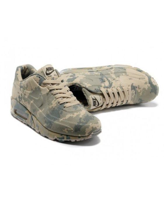 cheap for discount 001d3 2571c Mens Nike Air Max 90 Camo Light Grey 6809331-140