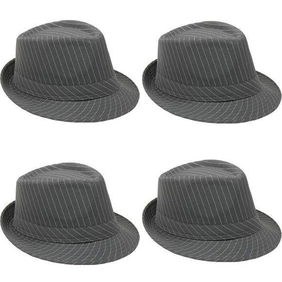 Red with Black Band Fedora Panama Trilby Cuban Style Upturn Short Brim Hat
