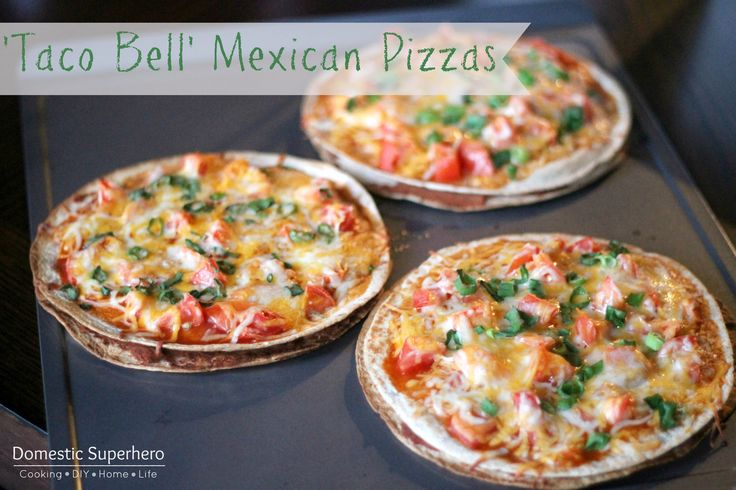 Taco Bell Mexican Pizzas - these are better than the real thing! So delicious!!!