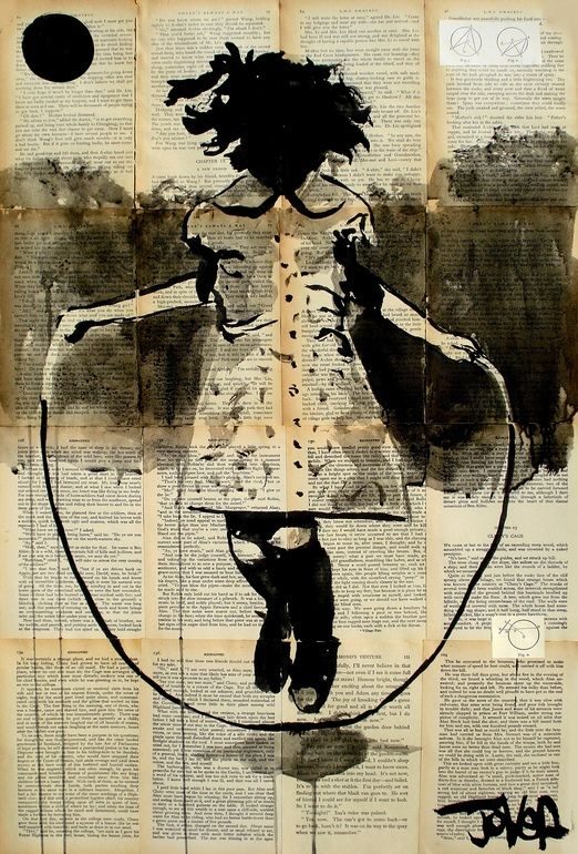 """Saatchi Online Artist: Loui Jover; Pen and Ink, Drawing """"childhood and dreams"""""""