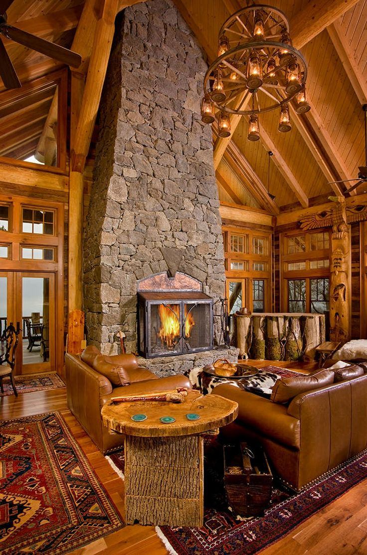 28 Best Log Home Kitchens Images On Pinterest Log Cabins
