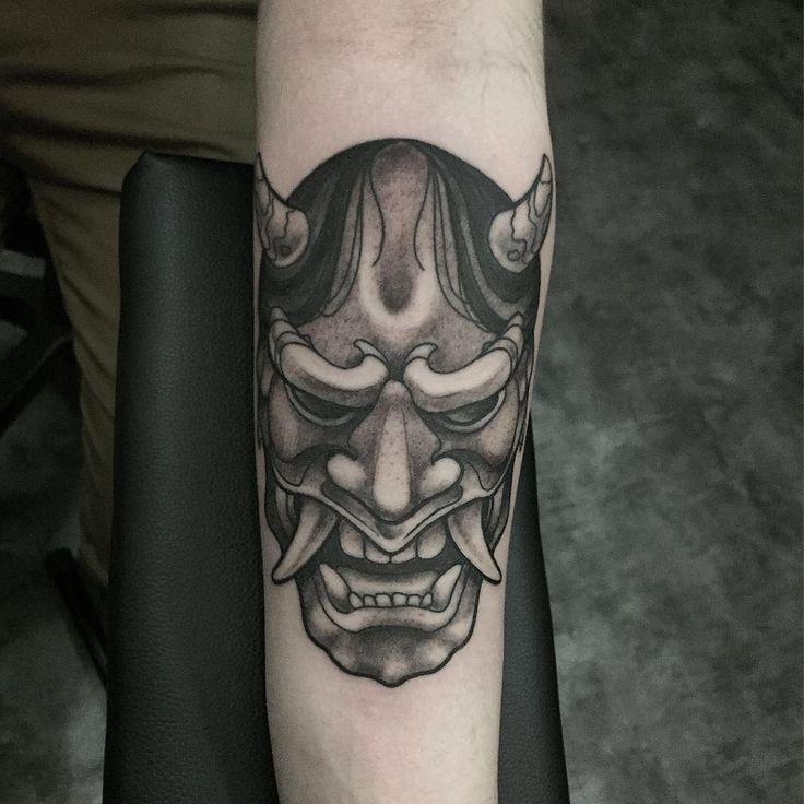 #hannya #hannyamask #blackngrey #japanese #tattoo #mask @anomalytattoo