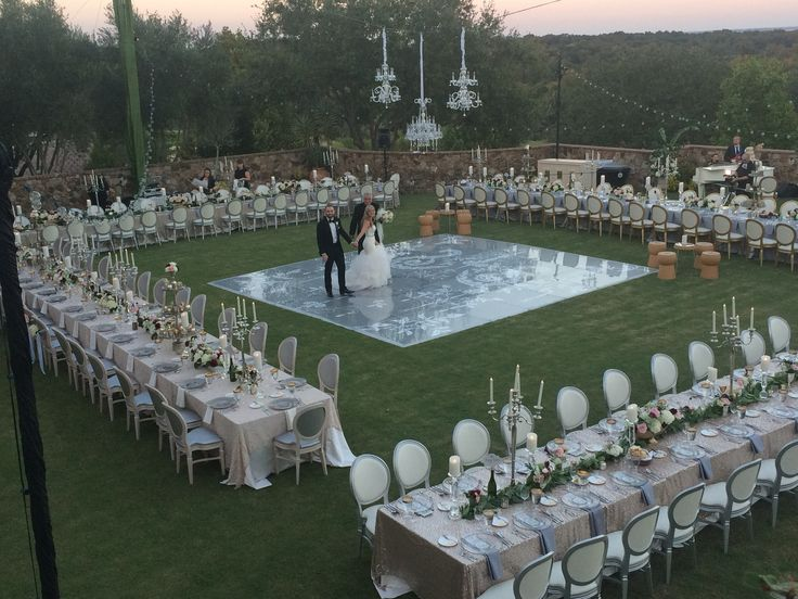 Outdoor Wedding Reception Tent Layout