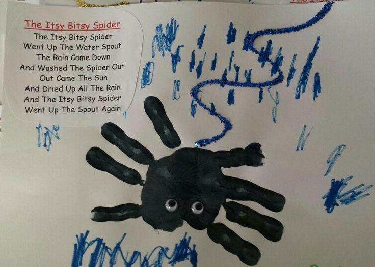 Preschool Hand Craft For The Nursery Rhyme Itsy Bitsy Spider