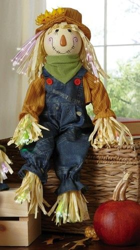Boy Mr Scarecrow Shelf Sitters Harvest Fall Thanksgiving Holiday Decor NEW I6242