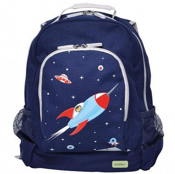 Your kids' eyes will light up like stars when they see these gorgeous rocket-themed #BobbleArt canvas #kidsbackpacks which are great not only for school, but also perfect for a day out, pre-school or daycare.... big enough to fit all the necessities a little one needs.