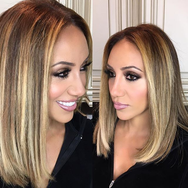 Melissa Gorga's blonde hair is everything.