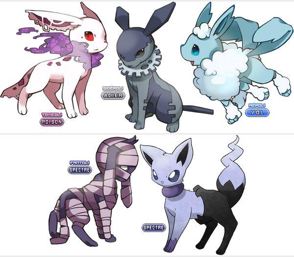17 meilleures id es propos de evoli sur pinterest - Toute les evolution pokemon ...