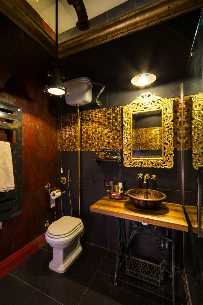 Как сделать лофт не похожим на другие: пример из Москвы. Davidson BikeHarley  DavidsonPink DecorationsSteampunk BathroomLoft ...